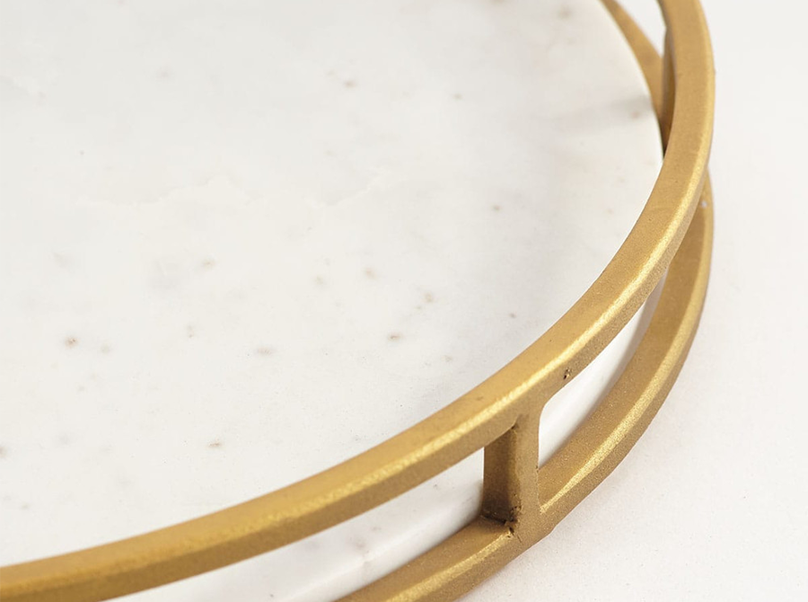 Corso Brass and Marble Tray