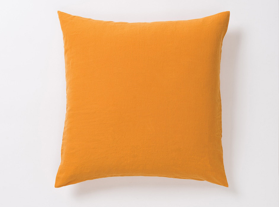 Sove Linen Euro Pillowcase - Pumpkin